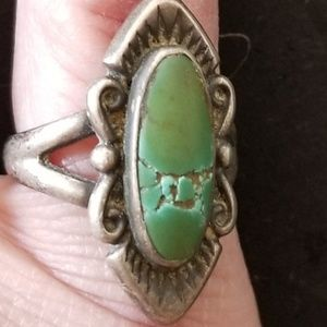 Vintage 60s sterling silver turquoise ring